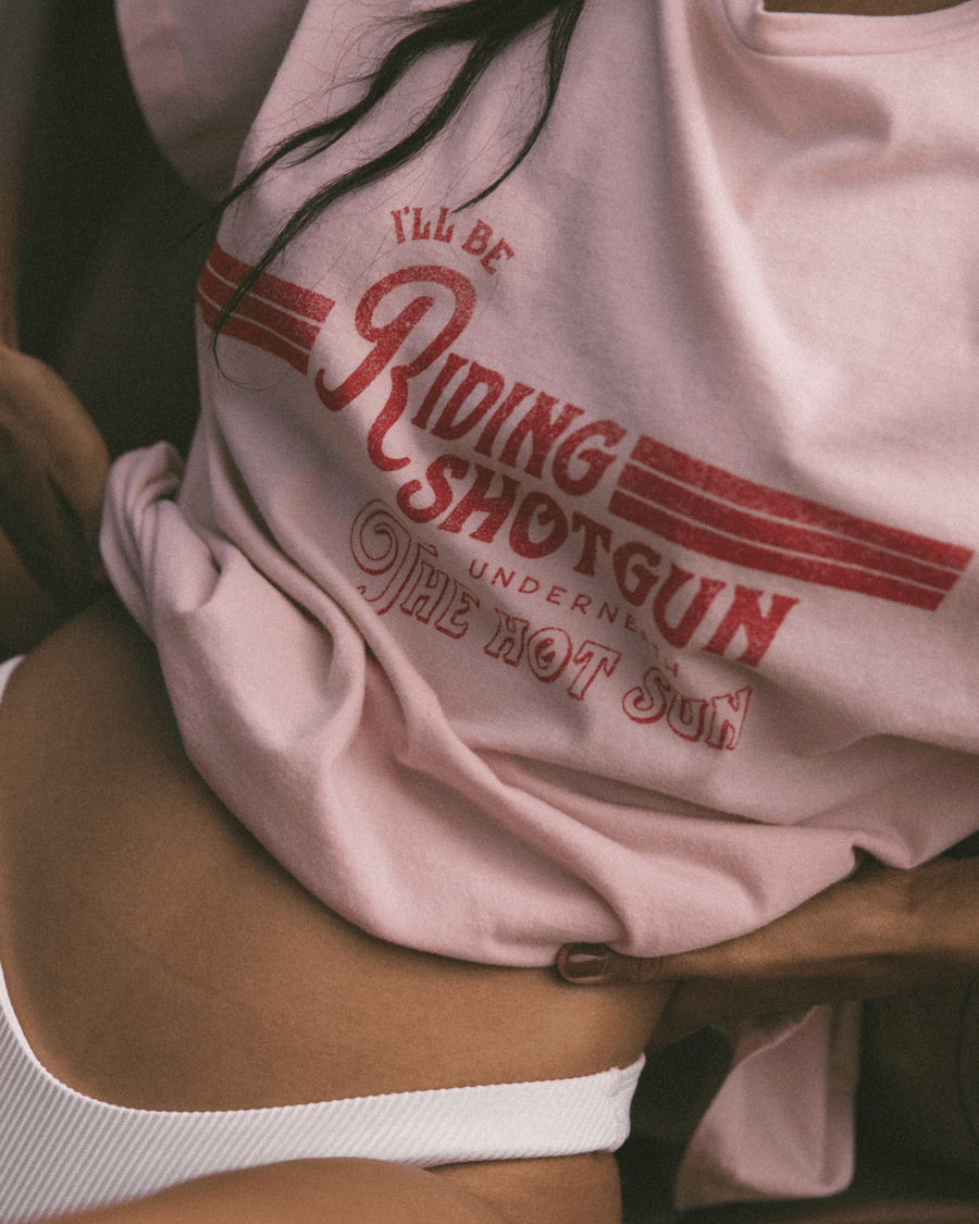 Charlie Holiday TEES & TANKS Shotgun Oversized Boyfriend Tee