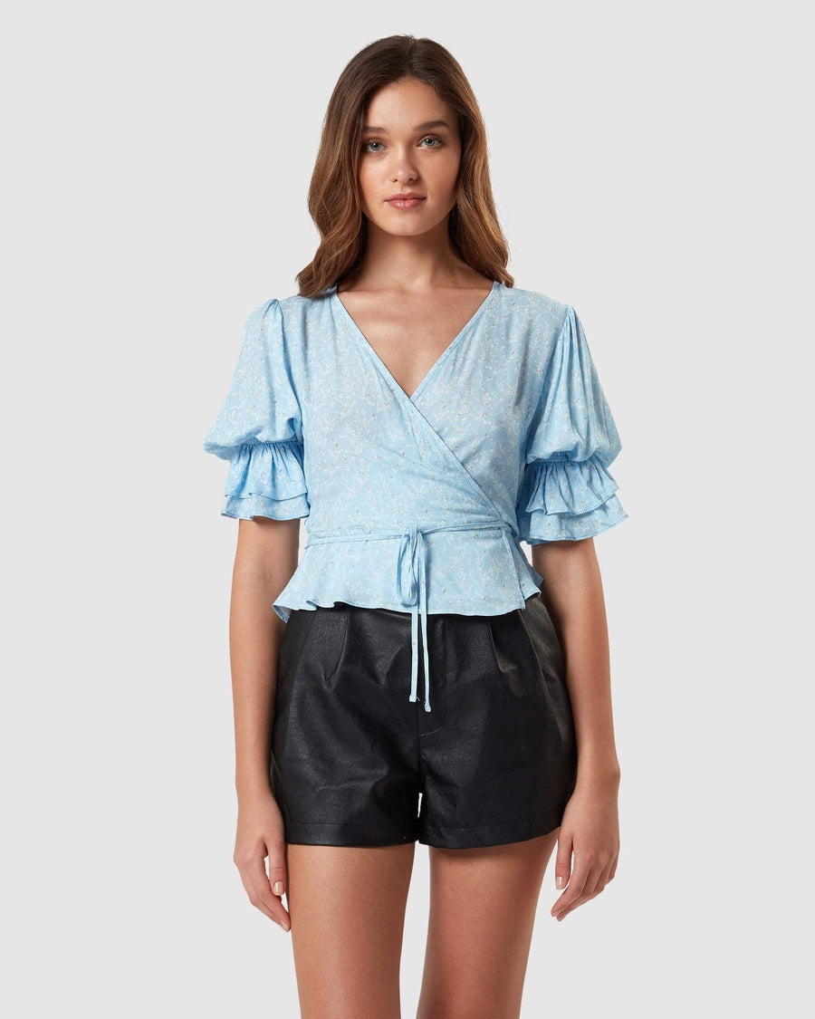 Charlie Holiday TOPS Salsa Wrap Top