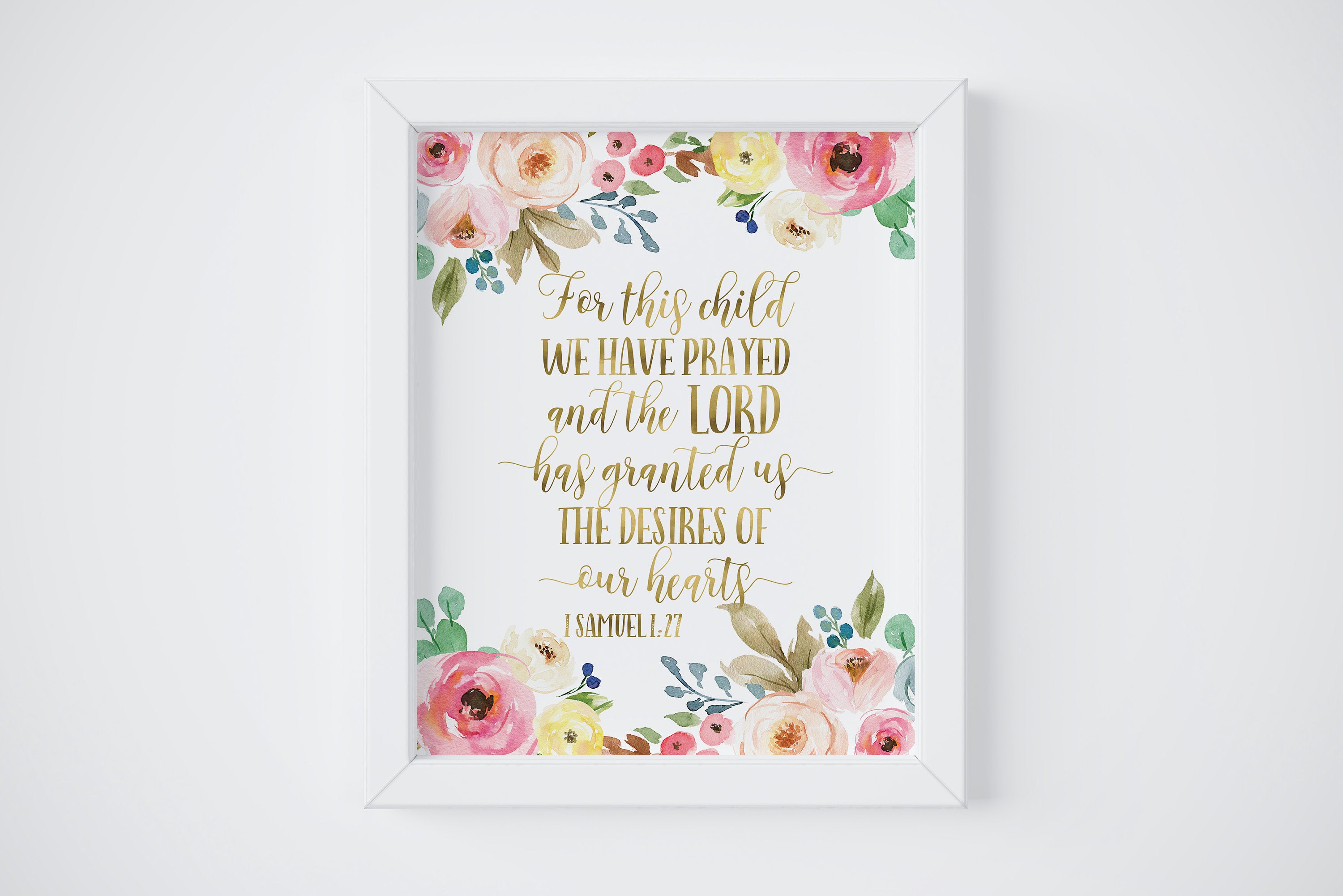 456fbb55f For This Child We Have Prayed Framed Nursery Wall Art Decor | Heaven ...