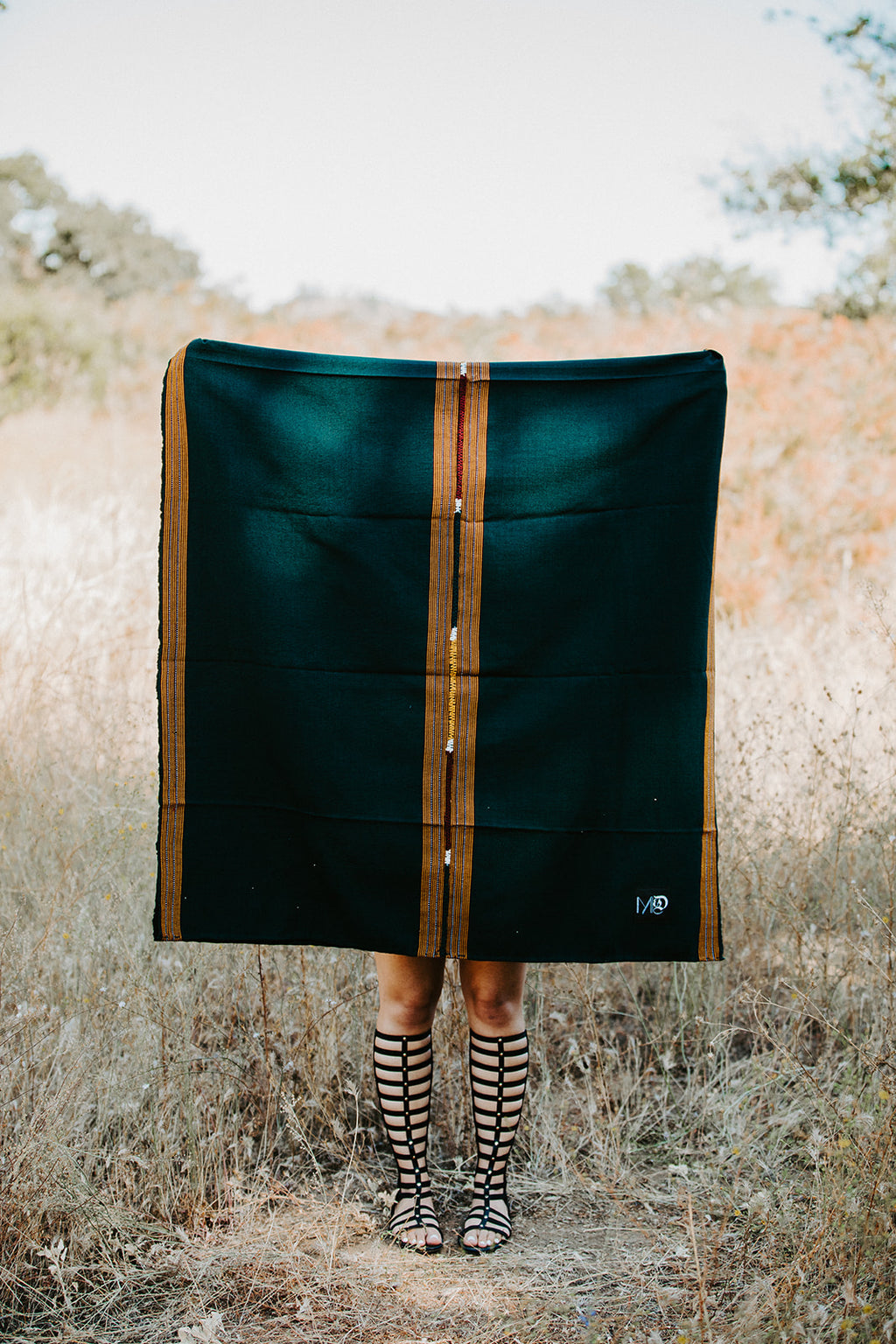 ARTISAN PANA THROW- HUNTER GREEN