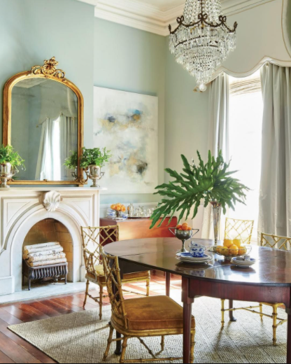 Is it OK to Have a Blue Dining Room?  Decorating with a Cool Color Palette