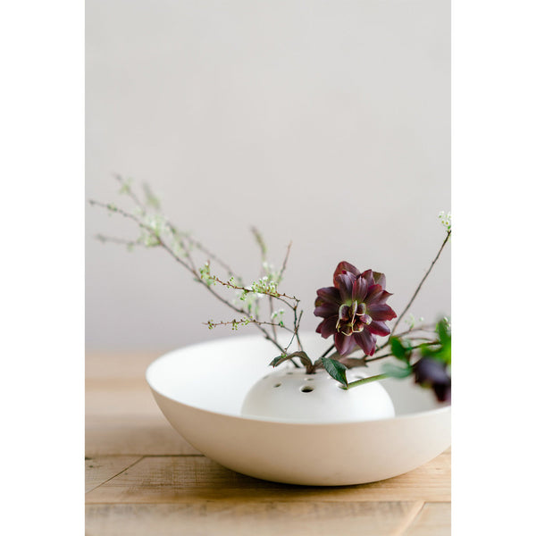 The Floral Society Ceramic Flower Frog Bowl