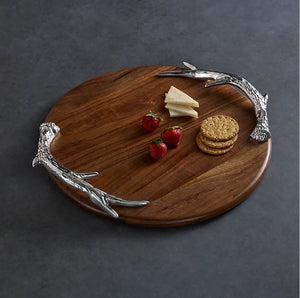 Western Antler Round Large Cutting Board