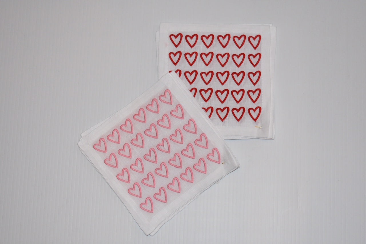 Open Heart Cocktail Napkins