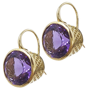 Large 18k Crownwork Earrings