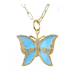 Butterfly Pendant Necklace - Sotre Collection