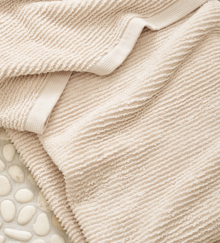 Aman White Ribbed Bath Towels - Sotre Collection