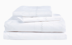 Anketi White Cotton Sheet Sets - Sotre Collection