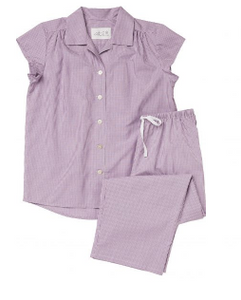 Lavender Check Luxe Pima Capri PJ Set - Sotre Collection