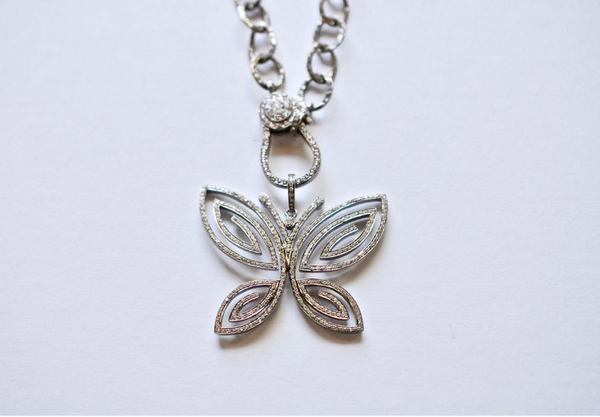 Pave Butterfly Pendant - Sotre Collection