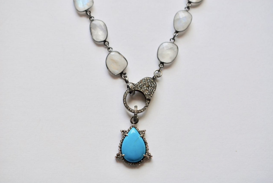 Turquoise Tear Pendant - Sotre Collection
