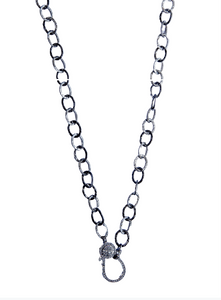 Hammered Sterling Long Chain - Sotre Collection