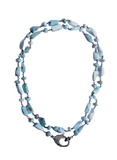 Larimar Long Chain - Sotre Collection