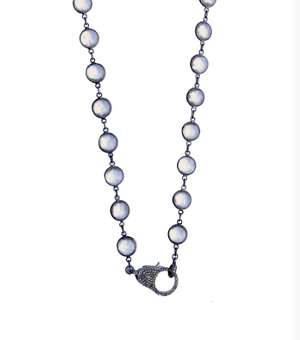 Short Quartz Crystal Bezel Chain - Sotre Collection