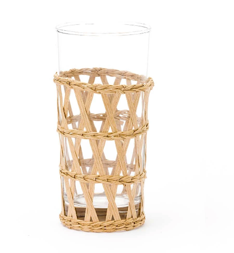 Seagrass Wrapped Iced Tea Tumblers - Sotre Collection