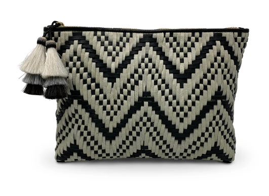 Black and White Medium Pouch