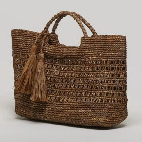 Mia Medium Raffia Bag