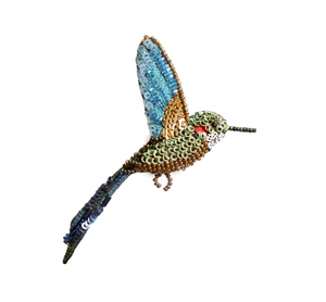 Tropical Hummingbird Brooch Pin
