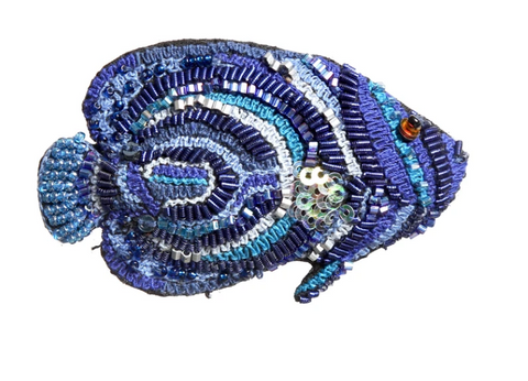 Emperor Angelfish Brooch Pin