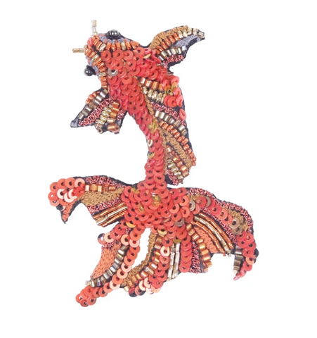 Gold Koi Fish Brooch Pin