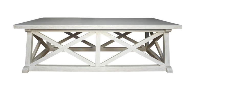 Sutton White-Washed Coffee Table