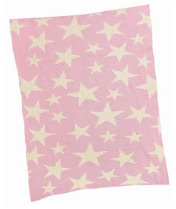 Pink Multi Star Cotton and Lurex Blanket
