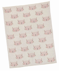 Kitten Cotton and Lurex Baby Blanket