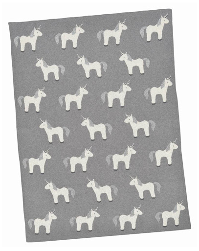 Unicorn Lurex Baby Blanket