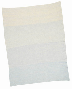 Blue Cotton Ombre Baby Blanket