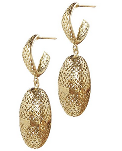 18K Gold Olive Drop Earrings