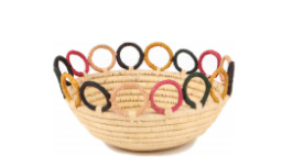 Medium Rainbow Hoop Basket