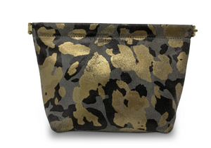 Snap Metallic Makeup Pouch