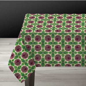 Purple Dahlia Tablecloth