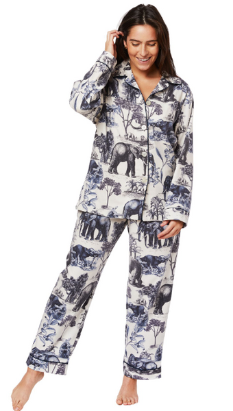 Safari Toile Flannel Pjs