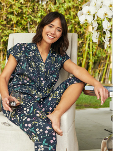 Night Flower Voile Capri PJs