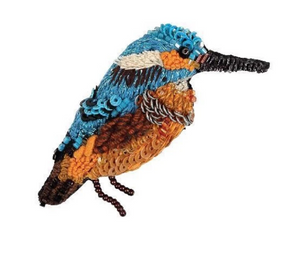 Kingfisher Brooch Pin