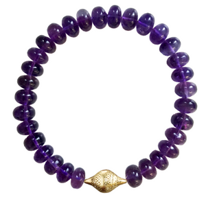 Amythest stretch bracelet