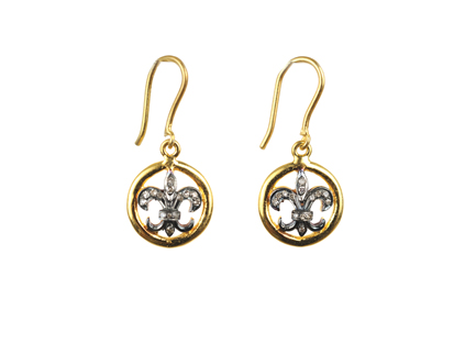 Le Fleur Pave Diamond Earrings