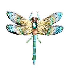 Aqua Dragonfly Brooch Pin