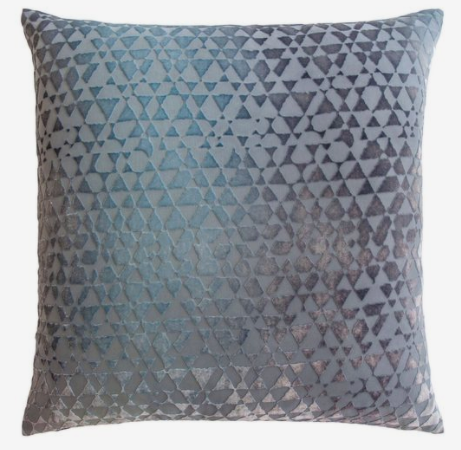 Kevin O'Brien Velvet Dusk Triangles Pillow