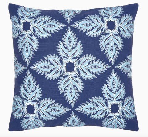 Verdin Indigo Outdoor Pillow