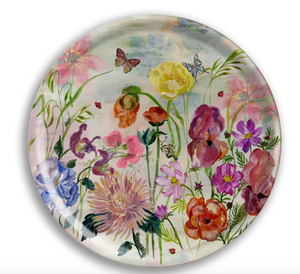 Flowers Round Party Tray