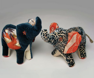 Plush Velvet Elephants
