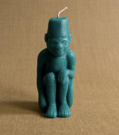 Monkey with Fez Candle