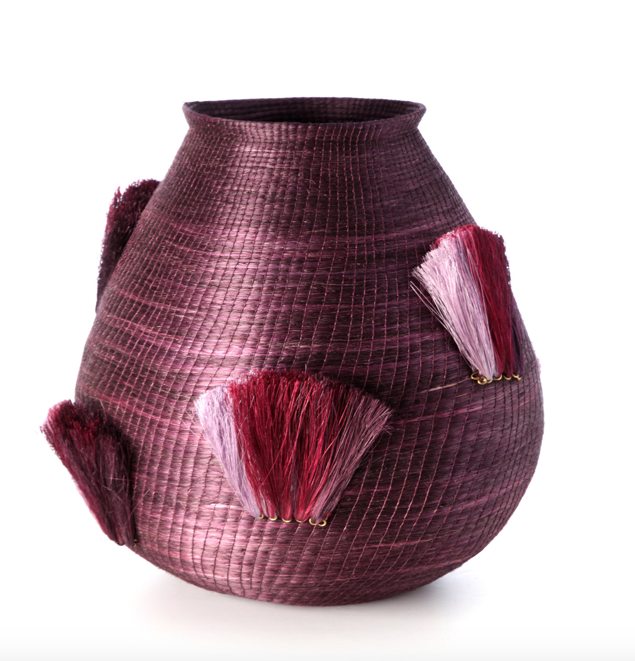 Fanned Out Large Bulbous Vase