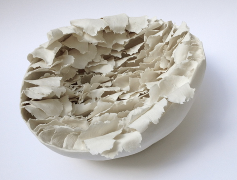 """Coquille"" Shell Porcelain Sculpture"