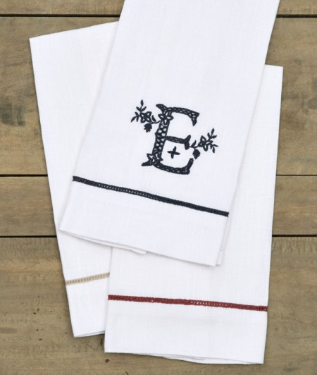 Large Hand-Embroidered Guest Towels - Sotre Collection