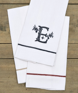 Large Hand-Embroidered Guest Towels