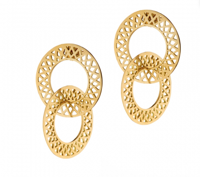 Crownwork Circle Double Hoops - Sotre Collection