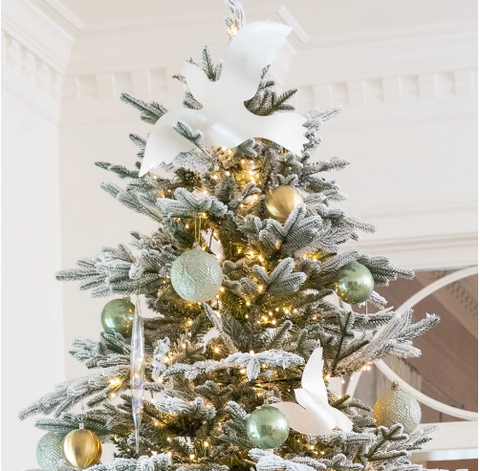 Extra Large White Dove Tree Topper - Sotre Collection
